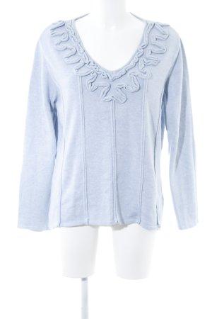 Biba Jersey de punto azul claro-azul bebé moteado look casual