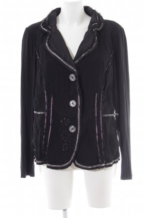 Biba Sweat Blazer black abstract pattern extravagant style