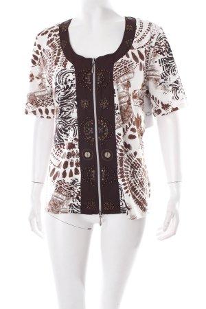 Biba T-Shirt abstraktes Muster Street-Fashion-Look