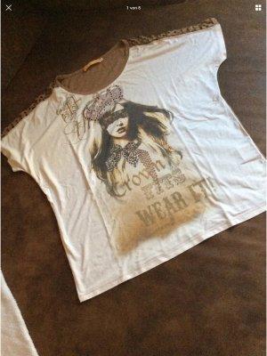 Biba T-Shirt beige-white