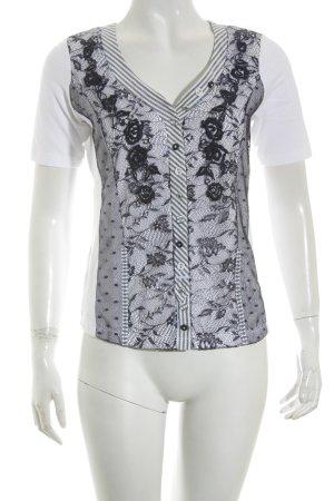 Biba T-Shirt weiß-dunkelblau Casual-Look