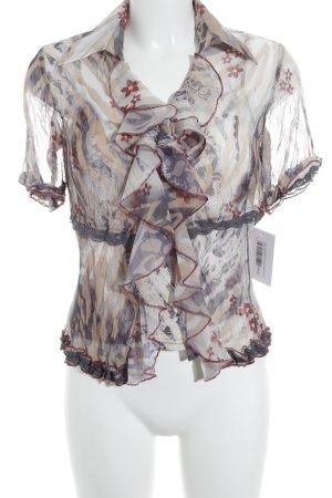 Biba Transparante blouse bloemen patroon zakelijke stijl