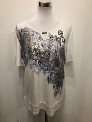Biba T-Shirt white-blue