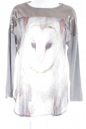 Biba Tunic Blouse silver-colored themed print casual look