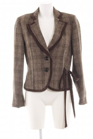 Biba Tweed Blazer brown check pattern vintage look