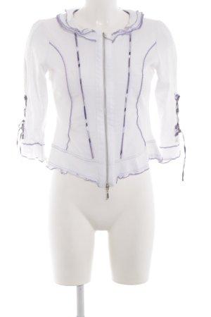 Biba Übergangsjacke weiß-lila Casual-Look