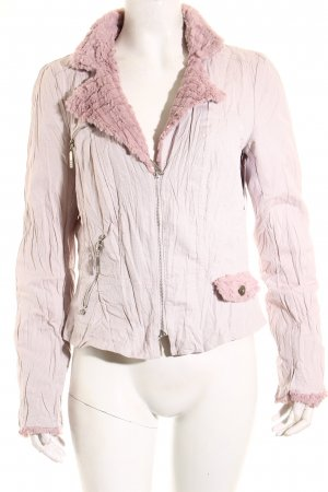 Biba Between-Seasons Jacket dusky pink fluffy