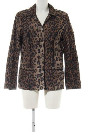 Biba Between-Seasons Jacket brown allover print extravagant style