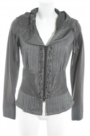 Biba Between-Seasons Jacket herringbone pattern material mix look