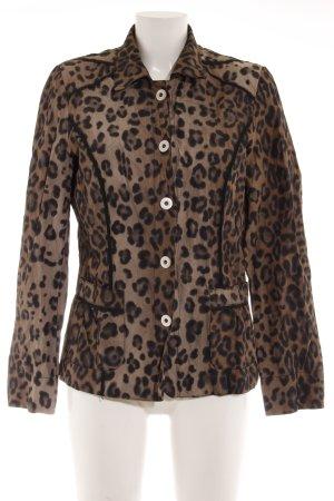Biba Between-Seasons Jacket grey brown-black leopard pattern extravagant style