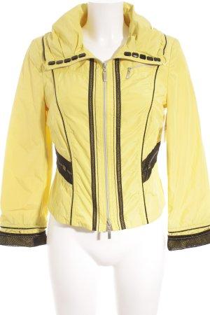Biba Overgangsjack zwart-geel straat-mode uitstraling