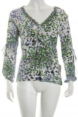 Biba V-Neck Sweater abstract pattern extravagant style
