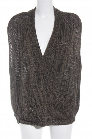 Biba V-Neck Sweater gold-colored-olive green flecked street-fashion look