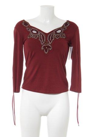 Biba V-Neck Shirt dark red casual look