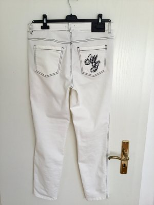 Biba Straight Leg Jeans white-black
