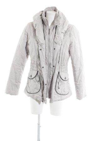 Biba Chaqueta de invierno color plata-gris claro estampado a rayas look casual