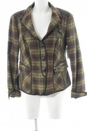 Biba Wool Jacket glen check pattern country style
