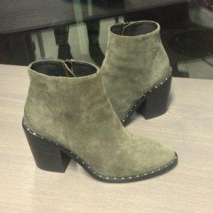 Bibi Lou Bottillons gris vert-kaki