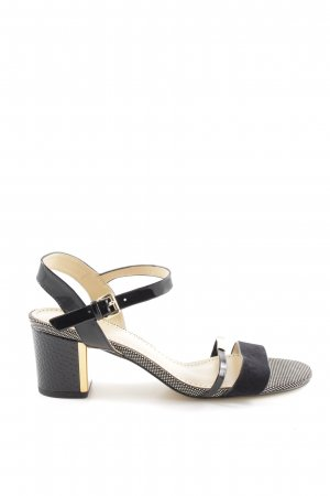 Bibi Lou Strapped High-Heeled Sandals black-gold-colored spot pattern elegant