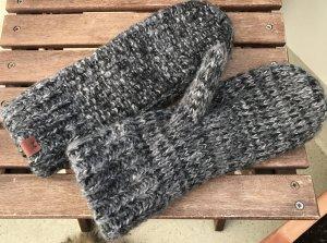 Bickley + Mitchell Handschuhe Wolle Fäustlinge schwarz grau