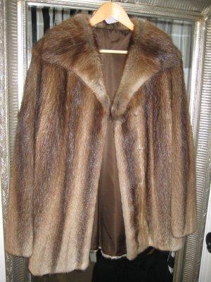Abrigo de piel color bronce-color oro Piel