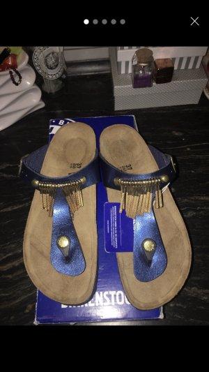 Birkenstock Sandalo toe-post blu