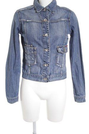 Big Star Jeansjacke blau Street-Fashion-Look