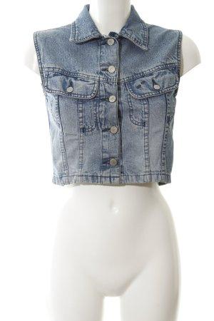 Big Star Denim Vest cornflower blue jeans look