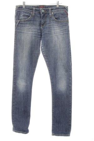 Big Star Slim jeans staalblauw Jeans-look