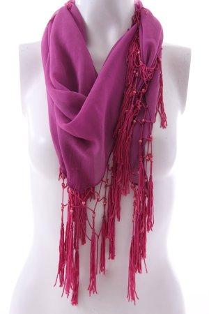 Foulard bleu violet-rose polyester