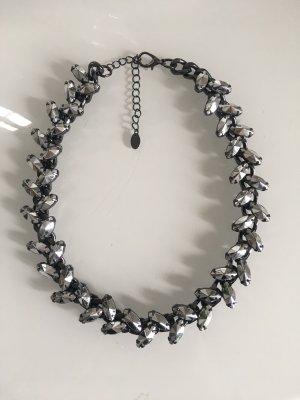 Bijou Brigitte Kette Statementkette Choker schwarz grau Strass