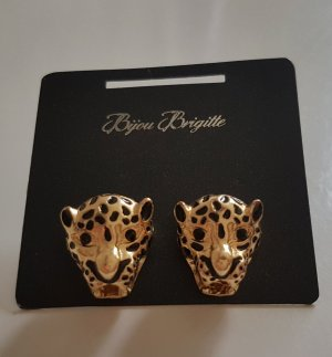 Bijou Brigitte Modeschmuck Ohrstecker Gold Panther Wildkatze Raubtier Dschungel Goldfarben