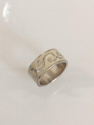 BIJOU BRIGITTE Ring Ornamente creme silber