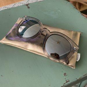 Bijou Brigitte Lunettes de soleil ovales gris-argenté