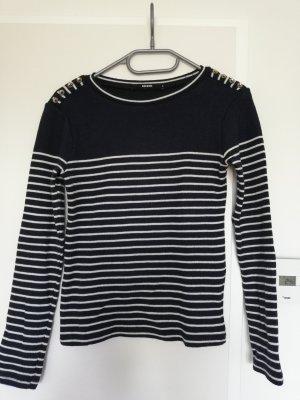 Bik Bok Sweater wit-donkerblauw