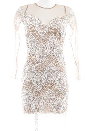 Bik Bok Abendkleid beige-weiß florales Muster Elegant