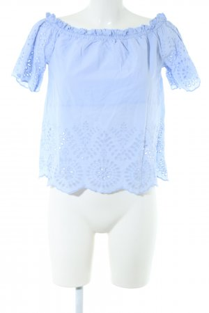 Bik Bok Carmen-Bluse blau Casual-Look