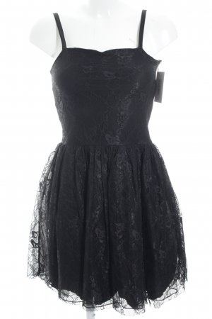 Bik Bok Cocktail Dress black floral pattern punk style