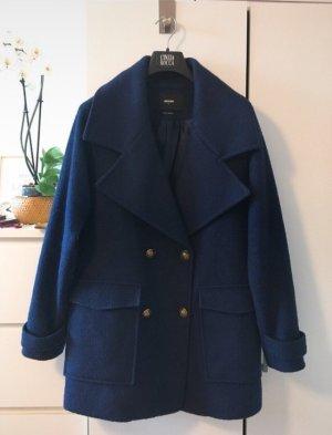 Bik Bok Wollen jas donkerblauw-blauw