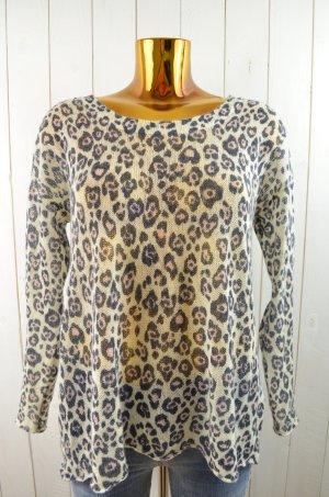 BIK BOK Damen Pullover Strick Acryl Ecru Schwarz Rosa Rundhals Gr.S