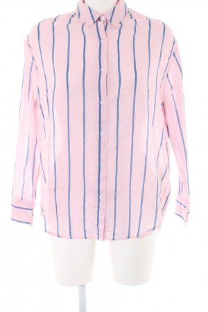 Bik Bok Shirt Blouse pink-blue striped pattern casual look