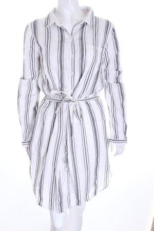 Bik Bok Hemdblusenkleid schwarz-weiß Streifenmuster Casual-Look