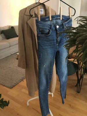 Bik Bok High Waist Jeans dark blue-steel blue cotton