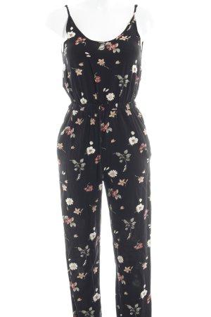 Bik Bok Jumpsuit schwarz-nude florales Muster Casual-Look