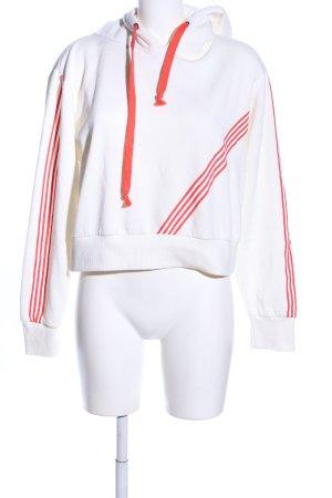 Bik Bok Hooded Sweater white-red striped pattern casual look