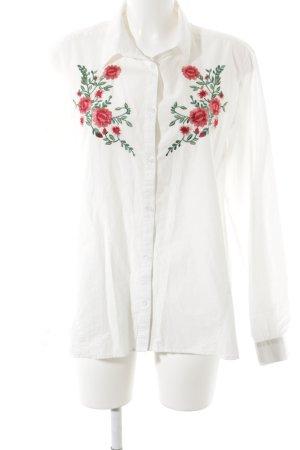 Bik Bok Shirt met lange mouwen bloemenprint boyfriend stijl