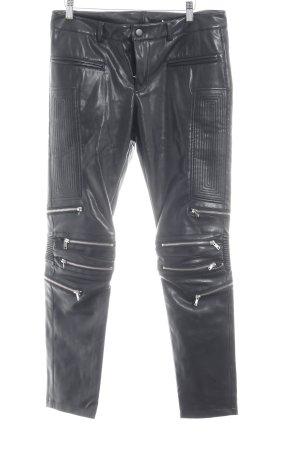 Bik Bok Leren broek zwart Biker-look