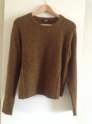 Bik Bok Crewneck Sweater green grey polyacrylic