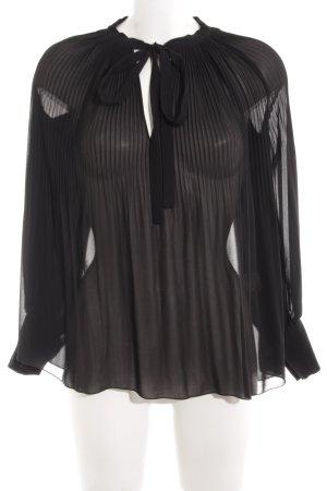 Bik Bok Schluppen-Bluse schwarz klassischer Stil