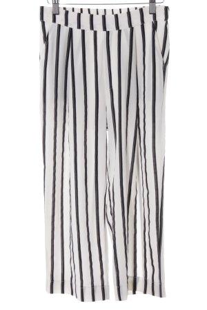 Bik Bok Stoffen broek wolwit-zwart gestreept patroon casual uitstraling